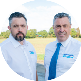 Matt & Ben Ager, directors of family firm Softflow Water Softeners in Essex.