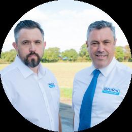 Matt & Ben Ager, directors of family firm Softflow Water Softeners in Essex.