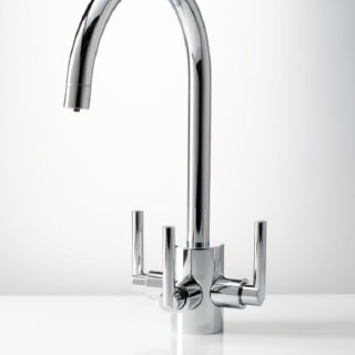 3 way water filter taps chrome finish